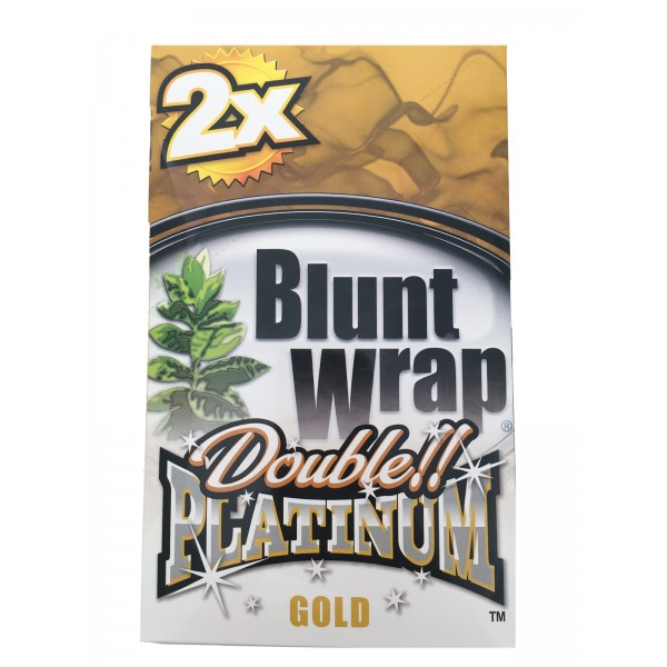 Blunt Wrap Double Platinum Gold 25 x 2 Box
