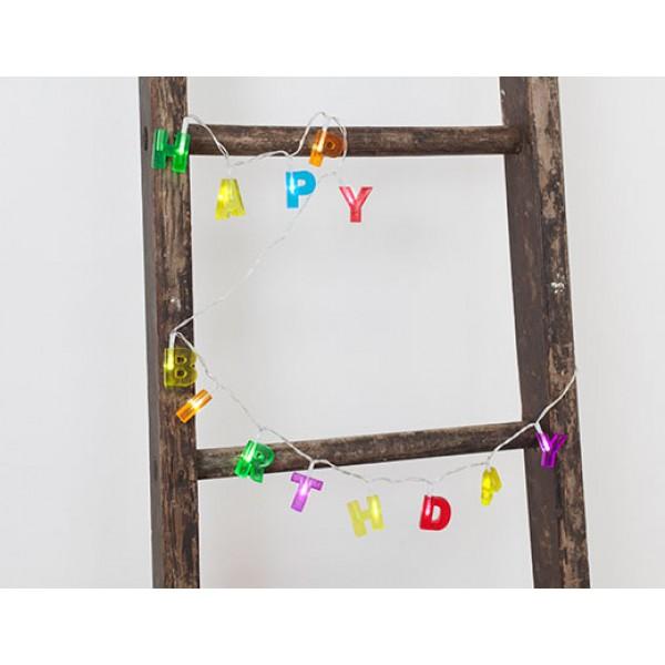 HAPPY BIRTHDAY Lichterkette (Kikkerland)