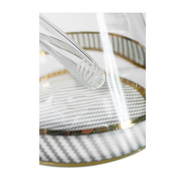 Heisenberg Carbon Beaker White Glasbong 7mm Basis