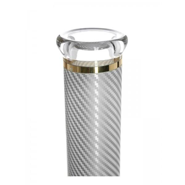 Heisenberg Carbon Beaker White Glasbong 7mm Mundtück