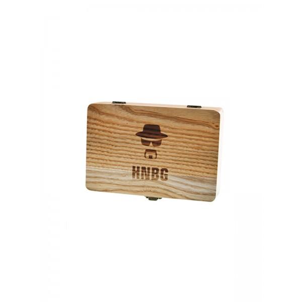 Heisenberg Holz-Box medium, Aufbewahrung logo