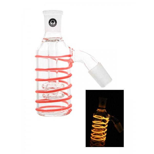 Heisenberg Vorkühler Double Circ Glow 18.8 rot