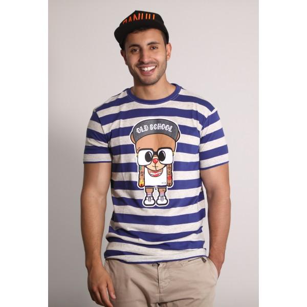 PANUU Harlem Tee (Streifen navy), T-Shirt Front