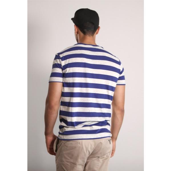 PANUU Harlem Tee (Streifen navy), T-Shirt Back
