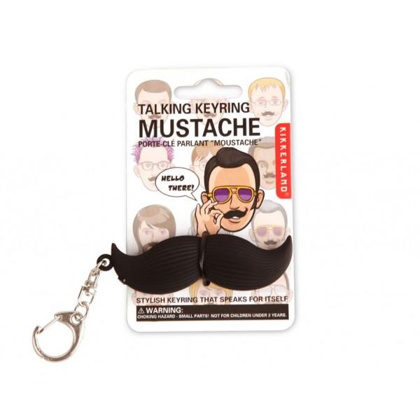 Kikkerland sprechender Mustache Schlüsselanhänger Verpackung