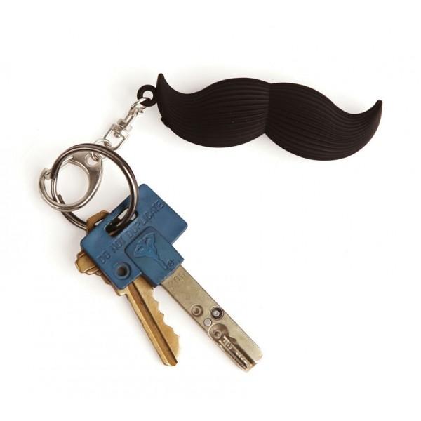 Kikkerland sprechender Mustache Schlüsselanhänger