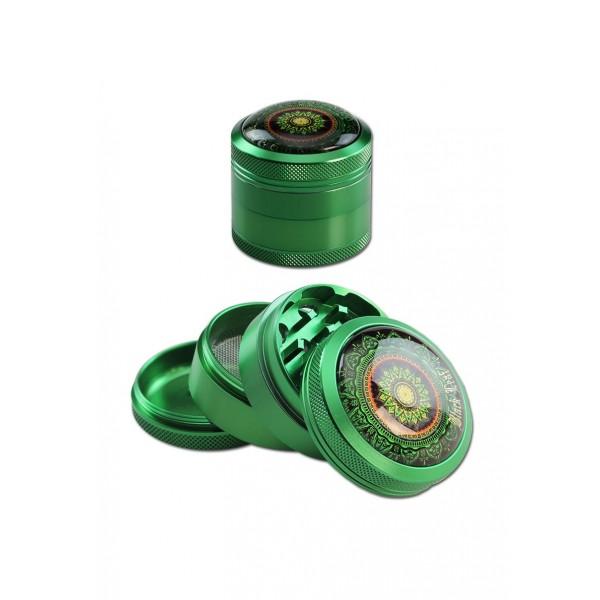 Black Leaf Alu Grinder Mandala grün