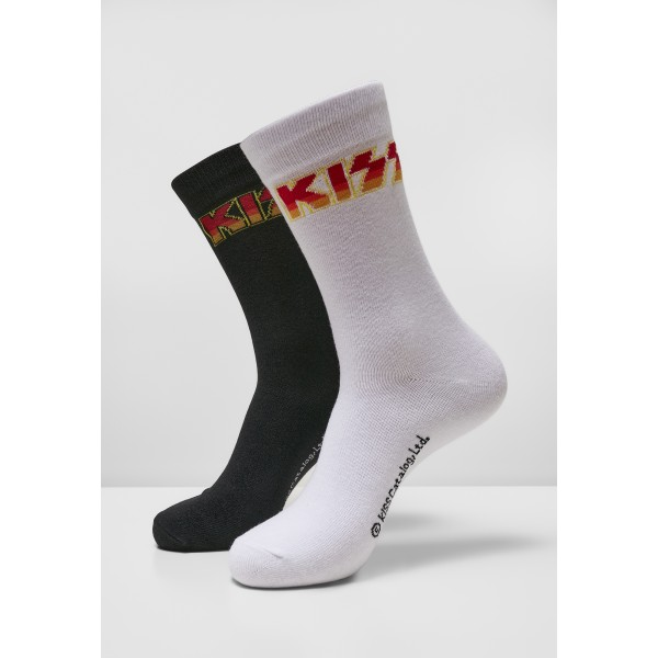 Kiss Socks 2-Pack schwarz weiß