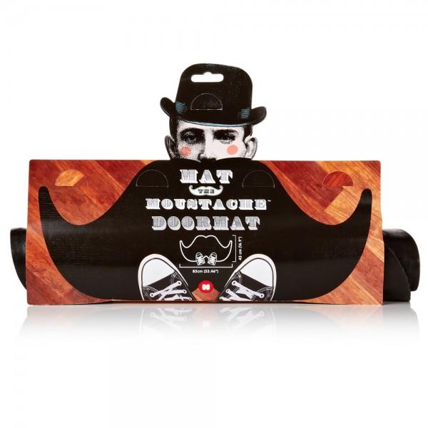 Schnurrbart Mustache Fussmatte Verpackung (Mustard)