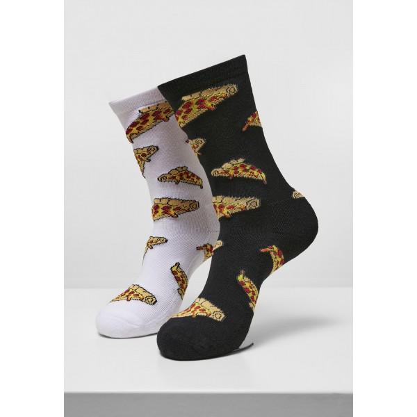 Pizza Slices Socks 2-Pack schwarz weiß