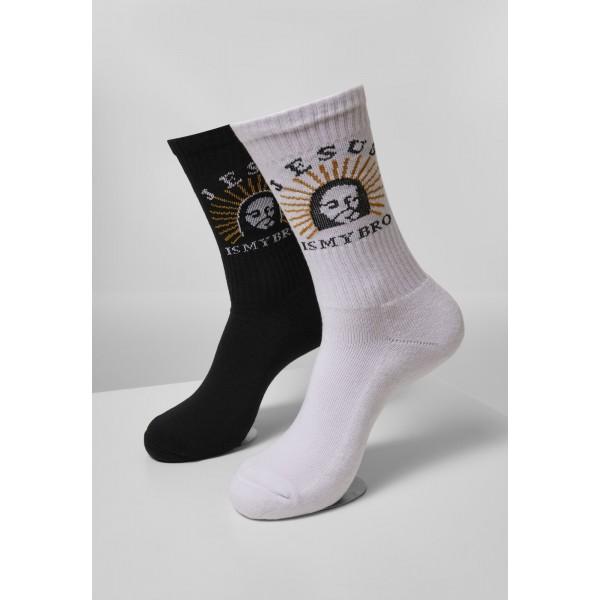Jesus Is My Bro Socks 2-Pack schwarz weiß