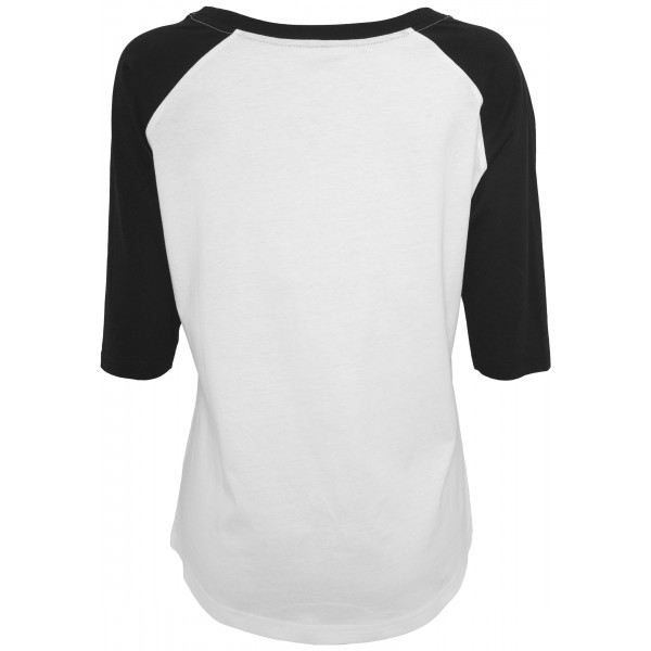 Mister Tee Ladies 5 Seconds of Summer Stacked Raglan Tee weiss/schwarz