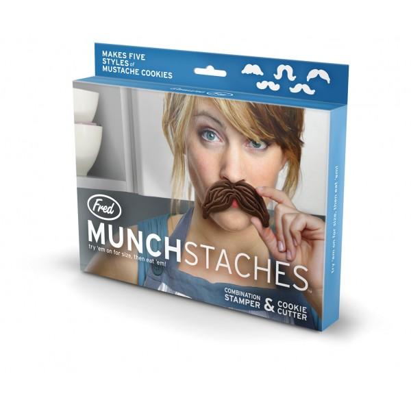 """Mustache Ausstecher und Stempel  """"Munchstaches"""" (FRED) Verpackung"""