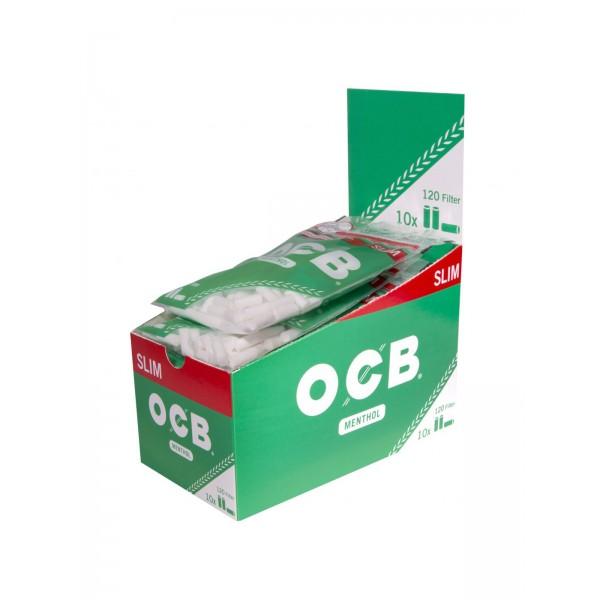 OCB Slim Filter 6 mm mit Mentholgeschmack 10er Großpackung