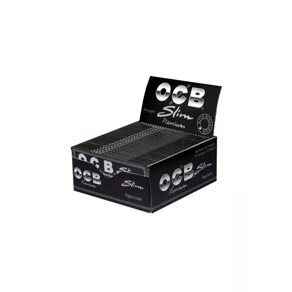 OCB Schwarz Premium Slim Long Papers mit Filter-Tips, 32er Box