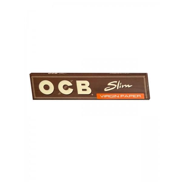 OCB unbleached Virgin King Size Slim Papers Heftchen einzeln