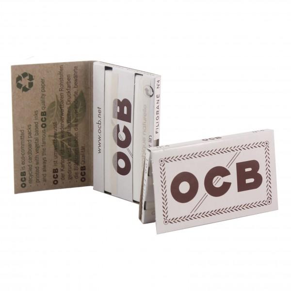 OCB Weiss Double Papers kurz N 4 Heftchen einzeln