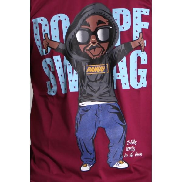 PANUU Swagger Tee (burgund), T-Shirt Print