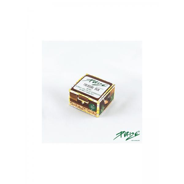 PURIZE® Treasure Box mit Brown Rolls und Xtra Slim Aktivkohlefiltern