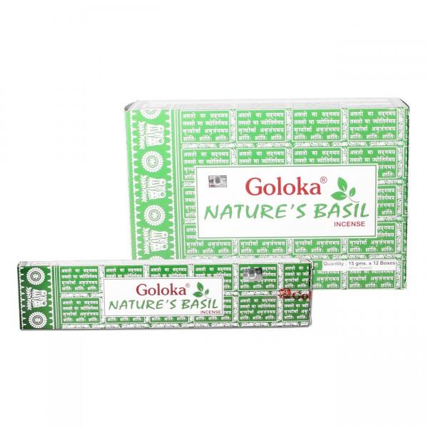 Goloka Räucherstäbchen Nature's Basil 15 g