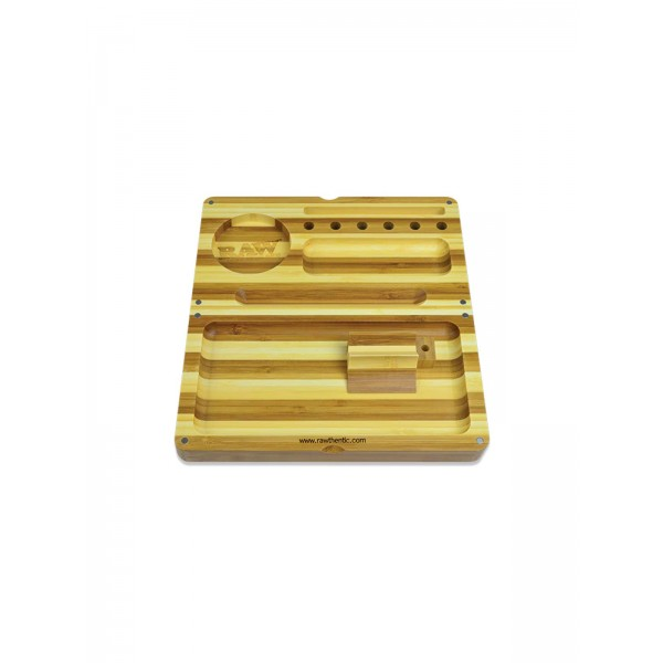 RAW Bambus Back Flip Rolling Tray Limited Edition Striped Bamboo