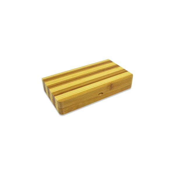 RAW Bambus Back Flip Rolling Tray Limited Edition Striped Bamboo geschlossen