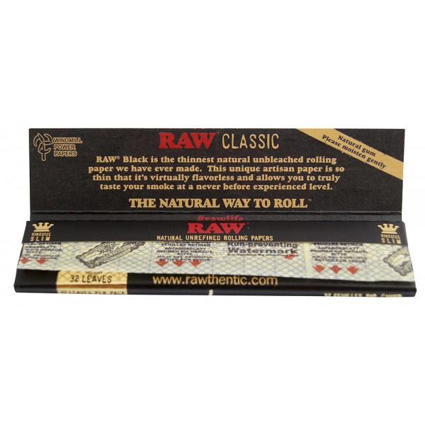 RAW Black King Size Slim Großpackung