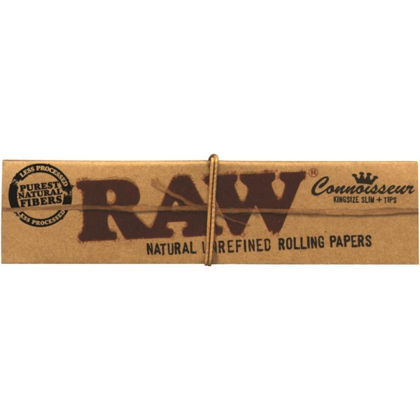 RAW Connoisseur French Kingsize Slim + Tips Papers, Heftchen  einzeln
