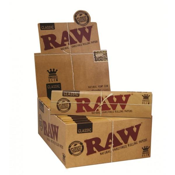RAW Classic King Size Slim, Heftchen einzeln mit Großpackung