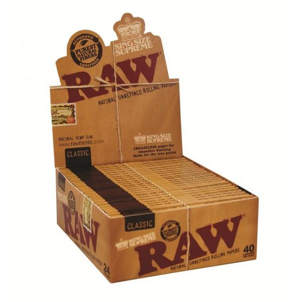 RAW Classic King Size Supreme, 24er Box