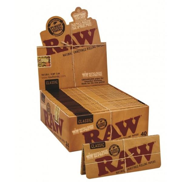 RAW Classic King Size Supreme, Heftchen einzeln mit Großpackung