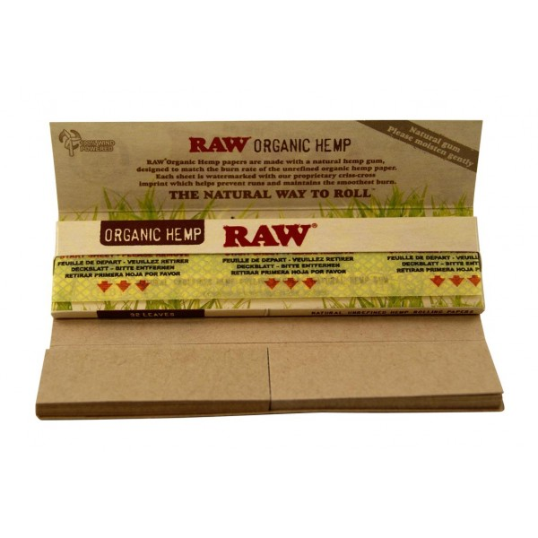 RAW Organic King Size Slim Connoisseur Papers + Tips, Heftchen einzeln