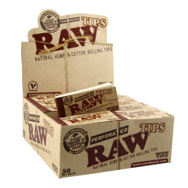 RAW Perforated Wide Tips,  Großpackung
