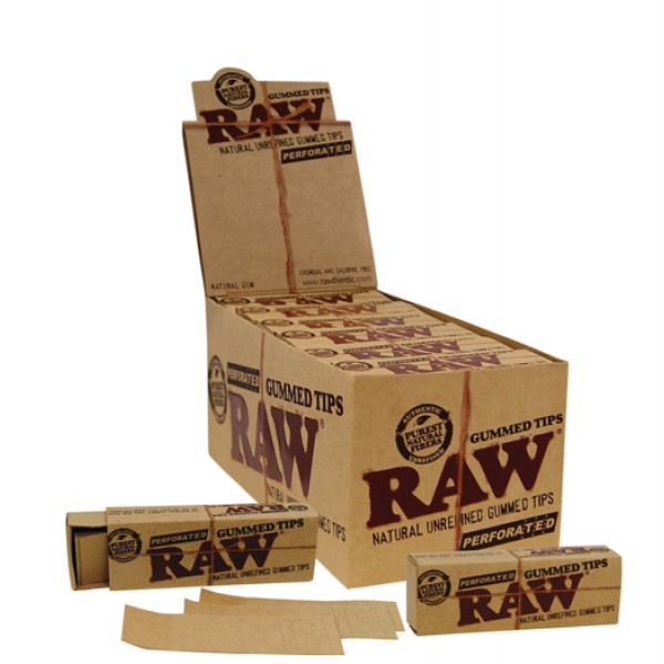 RAW Perforated Gummed Tips, 24er Großpackung