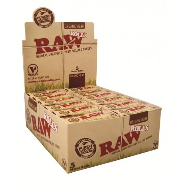 RAW Organic Rolls 5 m, Endlospaper 24er Box