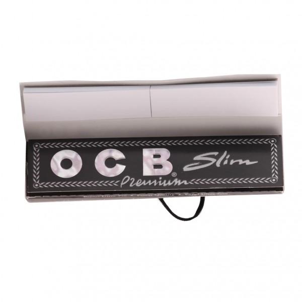 OCB Schwarz Premium Slim Long Papers mit Filter-Tips, Heftchen einzeln