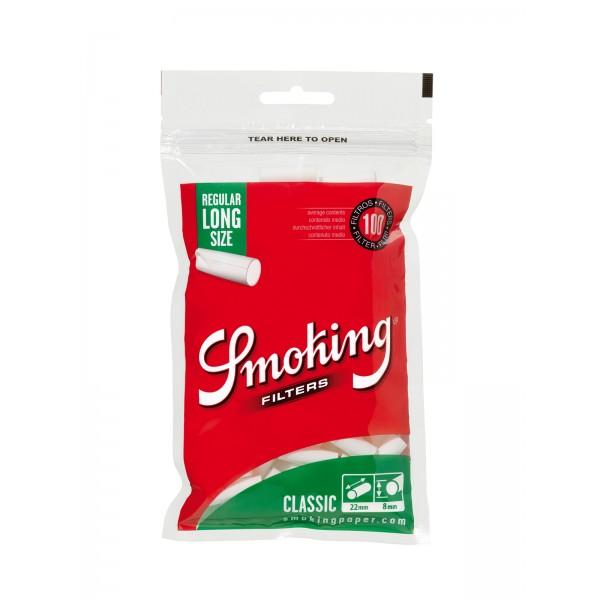 Smoking Classic Long Filter (grün), 100er Pack