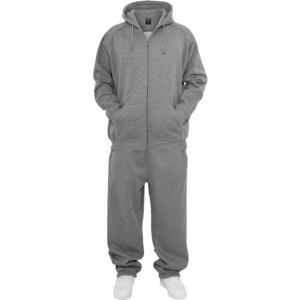 URBAN CLASSICS Blank Suit Jogging-Anzug grau