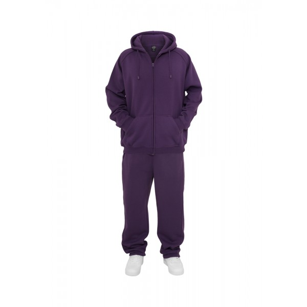 URBAN CLASSICS Blank Suit Jogging-Anzug plum
