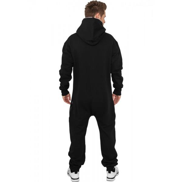 URBAN CLASSICS Jumpsuit Einteiler schwarz/fuchsia Back