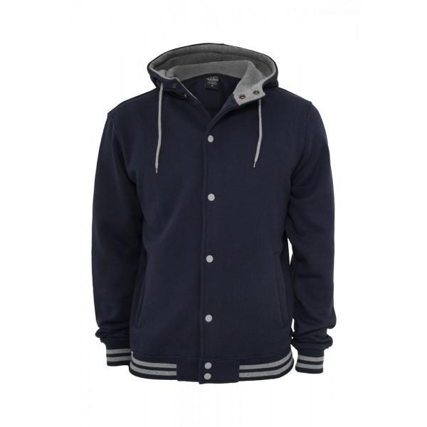 urban classics hooded college sweatjacket jacke