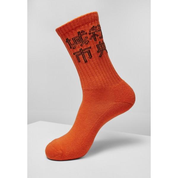 Chinese Logo Socks Triple Pack schwarz, weiß, orange