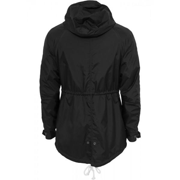 URBAN CLASSICS Long Nylon Windbreaker schwarz-mint-weiß