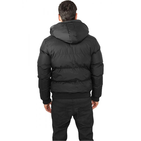 URBAN CLASSICS Double Hooded Jacke (schwarz)