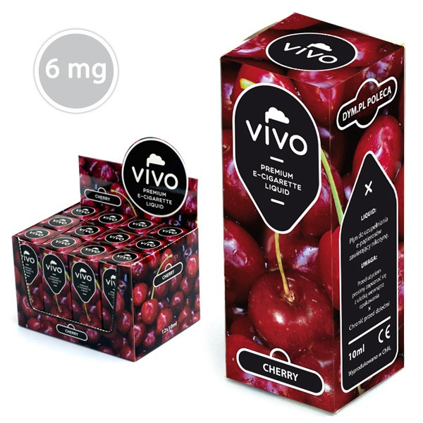 VIVO E-Liquid Kirsche 10 ml (6 mg Nikotin)