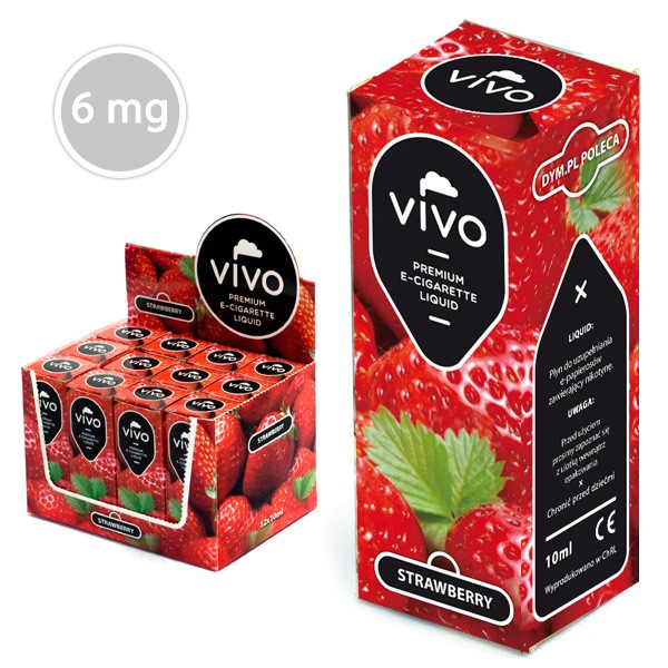 VIVO E-Liquid Erdbeere 10 ml (6 mg Nikotin)