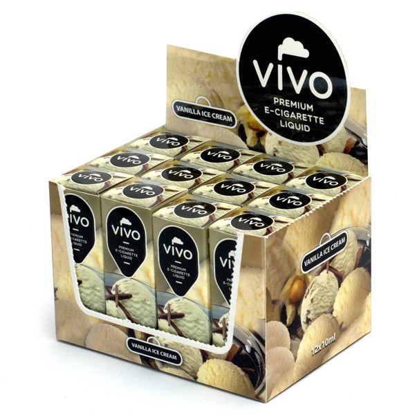VIVO E-Liquid Vanilla Ice Cream 10 ml (12 mg Nikotin)