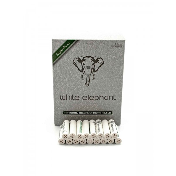 White Elephant Meerschaum Filter Ø 9 mm 150 er Packung einzeln