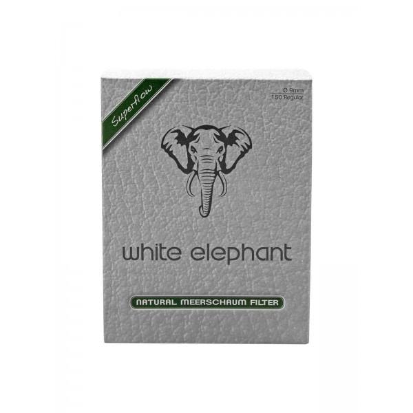 White Elephant Meerschaum Filter Ø 9 mm 150 er Packung
