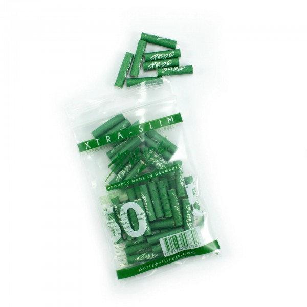 50 PURIZE® XTRA Slim Size Aktivkohle Filter grün